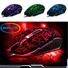 4000 DPI Professional Colorful Backlight Optical Wired Gaming Mouse Mice Gamer