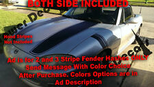 Mazda Miata 1998-2001 Gen 2 Fender Hash 2 or 3 Stripes Vinyl Decals - Both Sides