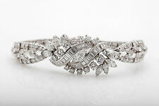 Vintage $30,000 12ct VS F G Diamond Platinum Tennis or Dinner Bracelet 34g