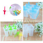 4/6 FROZEN POPSICLE MAKER ICE LOLLY MOULD HOLDER TRAY POP LOLLIES CREAM MOULDS