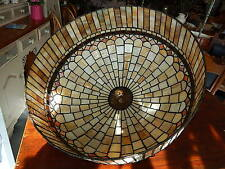 STUNNING VINTAGE LARGE TIFFANY THICK STAINED GLASS CEILING / LAMP SHADE