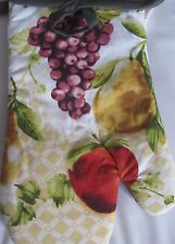 """Printed Kitchen 13"""" Large Oven Mitt, FRUITS design by Kitchen Trends"""