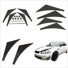 Paintable Flexible Polyurethane Car Front Bumper Fins Spoiler Canards Valence X4