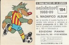 ALBUM FIGURINE CALCIATORI PANINI 1988-89 - MASCOTTE N. 184 LECCE - LEGGI