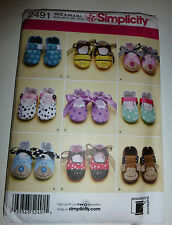 Simplicity Pattern 2491 Baby Shoes Size A SX S M L Precious Patterns