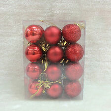 24pcs Christmas Home Party Decoration Xmas Tree Ball Bauble Decor Wedding