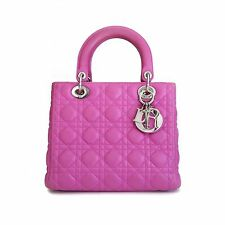 Lady Dior Medium Bag in Fuchsia Lambskin Cannage