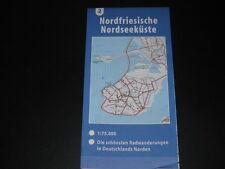 Fahrradkarte Tourenkarte Radwanderungen Deutschland Nord: Nordfriesische Küste