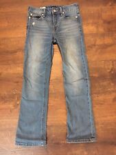 Womens GAP 1969 Distressed High Rise Crop Blue Jeans, Size 24r, GREAT CONDITION!