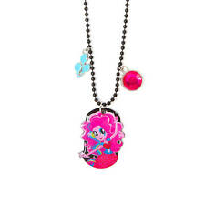 My Little Pony Pinkie Pie Dog Tag Necklace Equestria Girls Pendant NWT