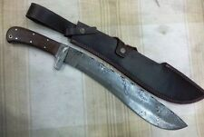 Custom Handmade Knife King's Damascus Machete Sword