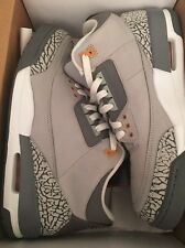 2007 Nike Air Jordan Retro 3 LS Cool Grey Spirt Red Cement Size 11