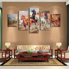 5 panels Horses Modern Painting Wall Decoration Art Picture Print on Canvas New