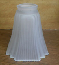 """SATIN SHADE NEOCLASSIC STYLE 5-1/8""""x 2-1/8""""CHANDELIER SCONCE LAMP CRYSTAL GLASS"""