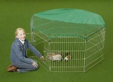 Rabbit Play Pen Run Outdoor Indoor Cage Enclosure Dog Puppy Guinea Pig Chicken
