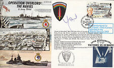 JS50/44/4B WWII WW2 50th Ann Op Overlord The Navies RAF FDC signed SYRED