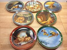 7 Garfield Collector Plates DEAR DIARY Danbury Mint Nine Lives Uncle Ed Condo