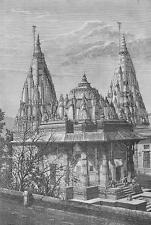 INDIA Mausoleum at Sindia !! Antique Print Engraving