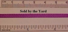PURPLE Ribbed Polyester Ribbon in 1/8 Inch ( 3mm ) Width - SOLD BY THE YARD