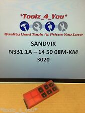 6x New Sandvik N331.1A - 14 50 08M-KM 3020 Carbide Inserts For Milling CI49