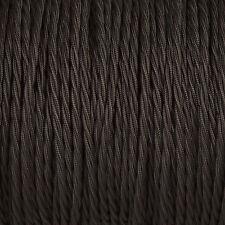 Negro Trenzado Trenzado Tejido Cable 3-core 0.5 mm para el alumbrado
