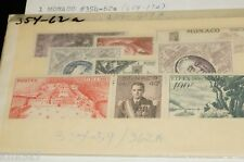 1956 Monaco stamps Fipex Philatelic Expo #354-62 Mh&MNH 3 stamps attach together