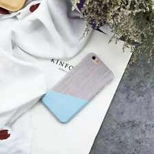 New Granite Marble Contrast Color Couple Hard Cover Case for iPhone 6S Plus Blue