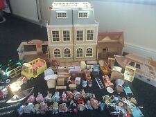 A Large Lot Of Sylvanian Families House Toy Bundle