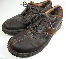 Clarks Mens Shoes Size 8 Brown Leather Casual 30347 Classy Nice Shape!