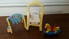 Baby Swing Rocking Horse Play Fisher Price Loving Family Sweet Sounds Dollhouse
