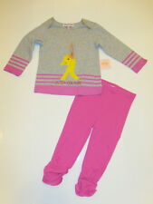 NWT Baby Girls 2pc Juicy Couture Duck Shirt Leggings Outfit Set 12-18M NEW