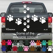 28 PAW PRINT STICKERS Lots of Colours Car Wall Stickers Decals Graphics Cat Dog