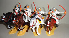 mounted TEUTONIC ARCHERS KNIGHTS Argentina DSG Medieval toy Soldiers Britains