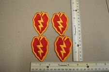 Lot of 4 US Army 25th Infantry Division Full Color Embroidered Patches