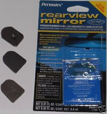 Rear View Mirror Installation Kit Glue Adhesive & Metal Windshield Mounting Tab