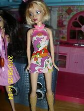 "MATTEL BARBIE MY SCENE DOLL ""DELANCEY"" IN PRINT GEOMETRIC DRESS, NECKLACE, BOOT"
