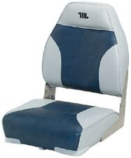 """New Mid Back Boat Seat wise Seating 8wd588pls660 Gray/Navy 21"""" D x 17"""" W x 21-1/"""