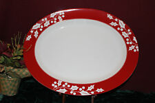 """Lenox Holly Silhouette 16"""" OVAL PLATTER NEW in Box 783185 1stQ"""