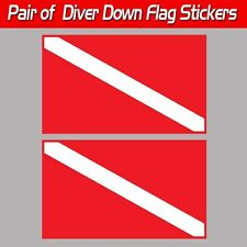 Diver Down scuba sticker decal diver down flag laminated graphic tank ready red