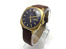 USSR Gold Plated AU10 mechanical Automatic watch RAKETA 2627H Rare blue dial