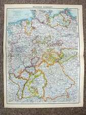 1902  Map of Western Germany