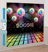 DISCO FEVER LETS BOOGIE SCENE SETTER 70'S PARTY WALL DECORATION PROP DISCO BALLS