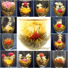 New 9 BLOOMING FLOWER FLOWERING JASMINE GREEN CHINESE TEA BALL HANDMADE IN BAG