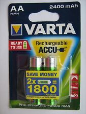 Pack of 2 VARTA AA 56756 rechargeable battery 2400mAh Ni-MH Pre-Charged HR6 New