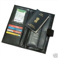 LEATHERETTE CHEQUE BOOK HOLDER FOLDER /PASSPORT,DEBIT-CREDIT CARD HOLDER WALLET
