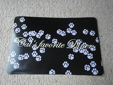 TRIXIE CAT FOOD WATER BOWL PLACEMAT KITTEN SPILL MAT WITH CAT'S FAVOURITE DINER