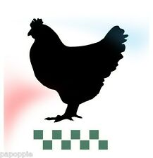 Stencil Vintage Chicken with Checks for Crafts Signs