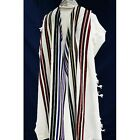 WOOL TALLIT WITH COLORFUL STRIPES - Made in Israel Jewish Prayer Shawl SIZE 24