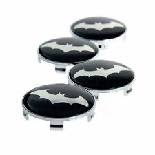 4x Dark Knight Batman Emblem Badge+Base Car Tyre Wheel Rim Hub Cap Decal Sticker