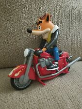 1999 PLAYING MANTIS CRASH BANDICOOT GREASER FIGURE W/ MOTORCYCLE